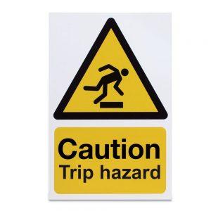 Caution Trip Hazard