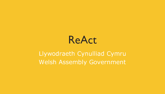 ReAct Funding Logo - Welsh Assembly Government