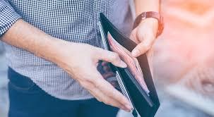 Man Checking Wallet